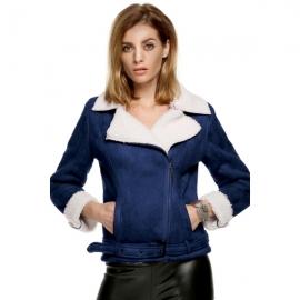 99924c0991 Outerwear ACEVOG Women Winter Warm Long Sleeve Lapel Coat Belted Jacket  With Fur Collar
