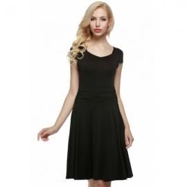 987f14fe2ea Midi ACEVOG casual short dress and party dress pleated polka dot dress