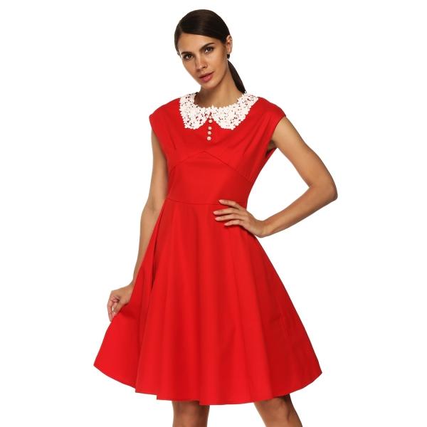 Womens Classy Vintage Audrey Hepburn Style 1940s Rockabilly